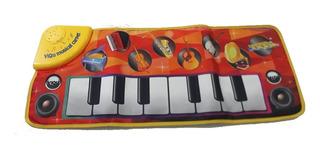 Piano De Tela Musical Con Luz , Cuna Bebe Jugar