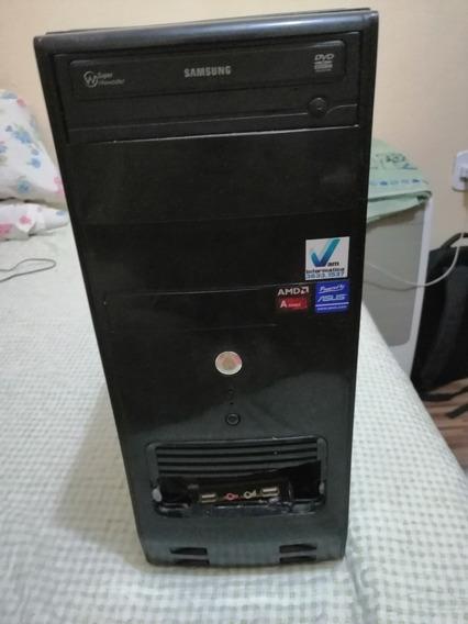 Computador Com Fonte De 450w, 4gb Ram Ddr3 E Processador Amd