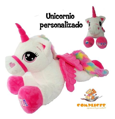 Unicornio Peluche Gigante 100 Cm Largo