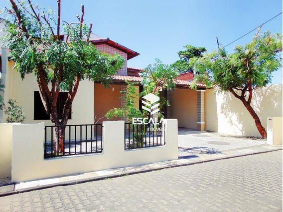 Casa Plana Com 3 Quartos À Venda, 150 M², Reformada, Cond. Fechado, 4 Vagas - Cambeba - Fortaleza/ce - Ca0260