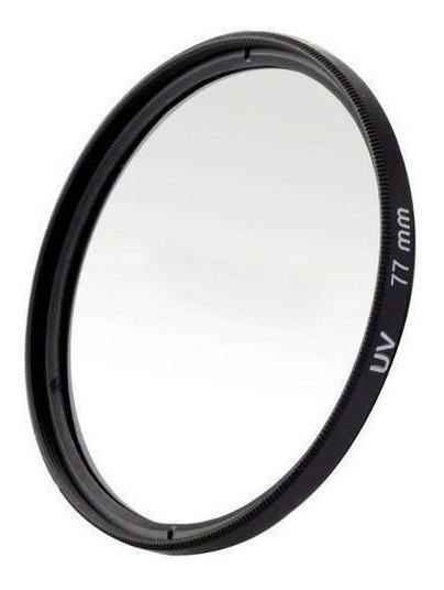 Filtro Uv Ultravioleta Protetor Para Lentes Câmeras Fotográficas 77mm Canon, Nikon, Sony, Fuji, Etc. Universal