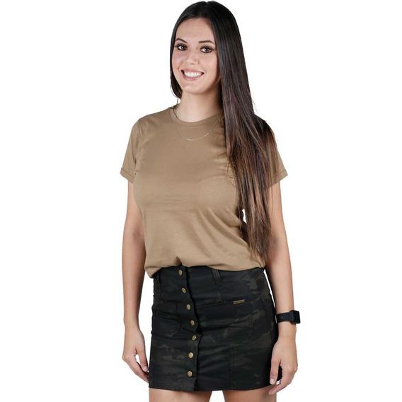 Camiseta Tática Feminina Soldier Coyote Bélica