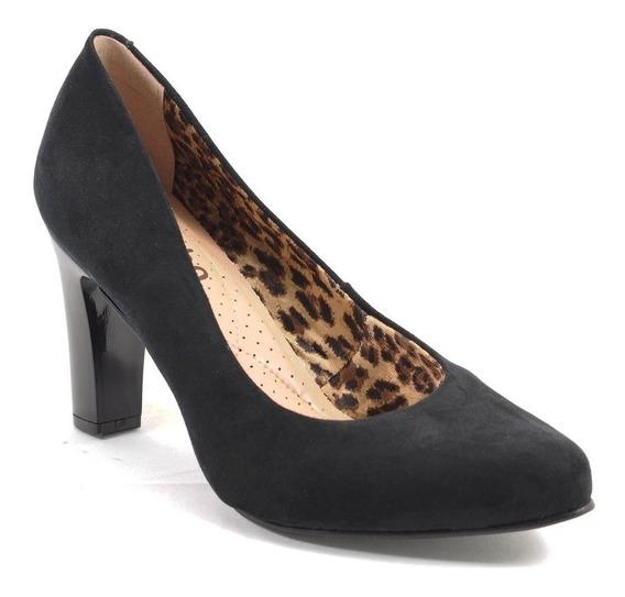 Sapato Feminino Camurça Preto Miucha