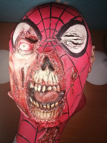 Máscara Spiderman Marvel Zombies, Máscara De Látex