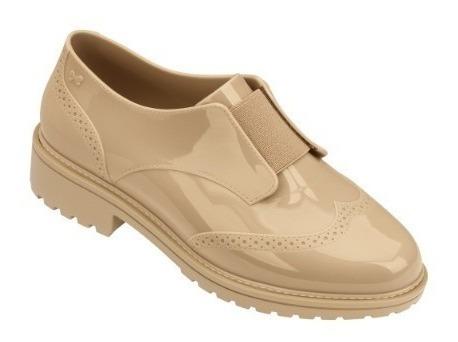 Sapato Feminino Zaxy Point Oxford Frete Grátis - Bege