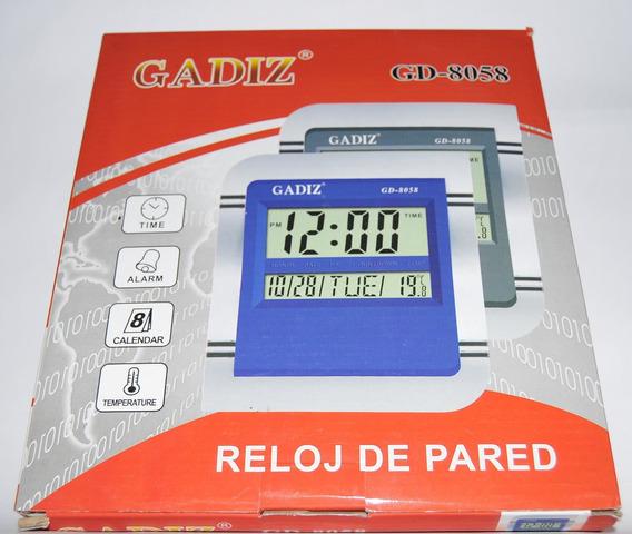 Reloj Digital De Pared/buro Con Alarma-fechador-temperaturac