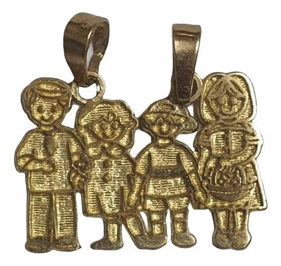 Colonos Estado Impresión  Dije Familia Oro - Joyería en Mercado Libre México