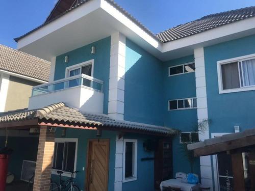 Recreio, Linda Casa Triplex Com 348m², Condominio, Documentação Ok - Ca00928 - 69373610