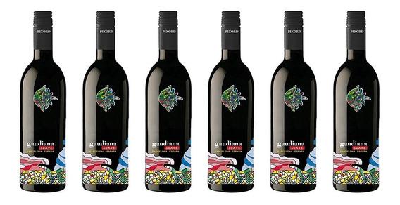 Vino Tinto Suave Gaudiana Penedes Merlot 6 Botellas Especial