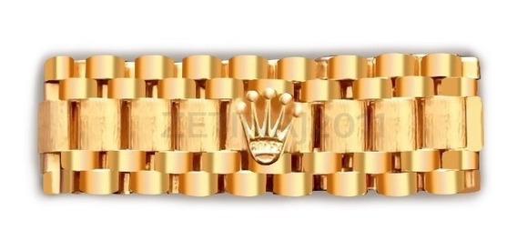 Anillo Tejido Presidente Rlx De Oro 14kt A Tu Medida 10mm Nuevo
