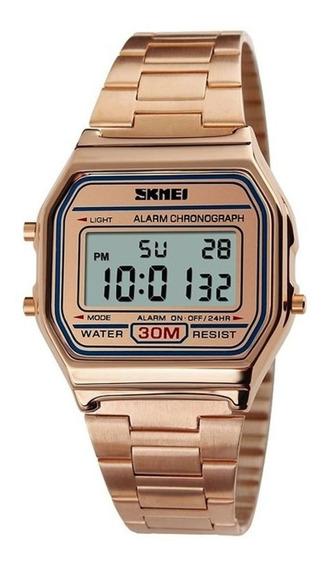 Relógio Skmei Dourado, Prata E Rosê Com Garantia Promoção