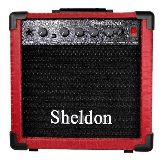 Amplificador Sheldon GT1200 15W vermelho