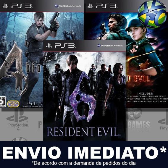 Resident Evil Combo 3 Jogos 4 5 6 Ps3 Psn Jogo Em Promoção