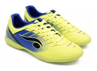 Chuteira Indoor Futsal Verde E Azul - Dsix