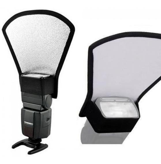 Difusor Rebatedor Universal Para Flash Speedlight 2 Lados