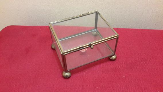 Caja Cristal Y Laton Alhajero C3211