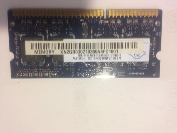 Memoria Sodimm Ddr3 4 Gb. 1333 Mhz 2x2gb