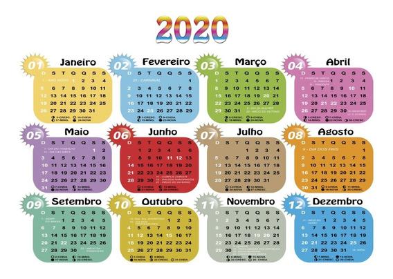 19 Calendários 2020 Png Sem Fundo