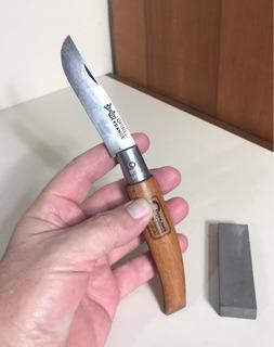 Canivete Opinel 8 Usado Aço Carbono Mais Pedra De Amolar