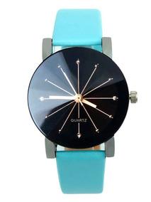 Relógio Clássico Quartz Pulseira Em Couro Preço Promocional