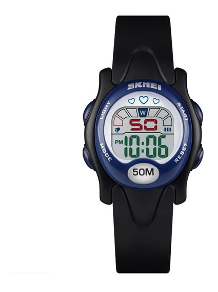 Relógio Infantil Digital Skmei 1478 Preto Pulseira Borracha