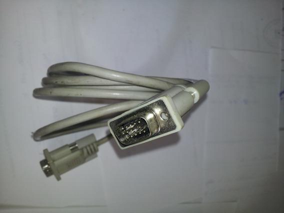 Cable Conector Doble Punta Vga Entre Monitores Pc Desktop