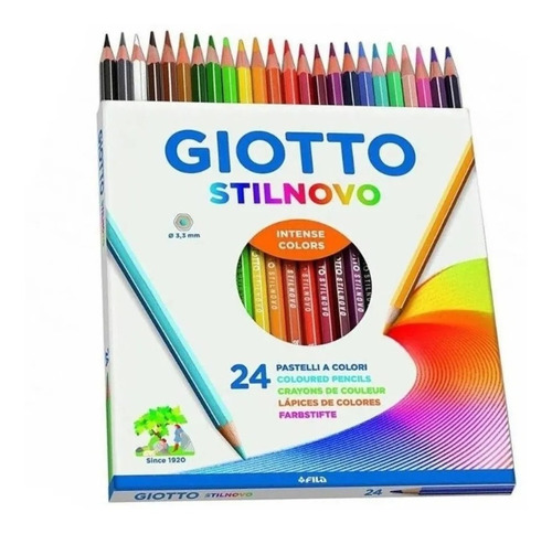 Imagem 1 de 2 de 24 Lápis De Cor Premium Giotto Stilnovo