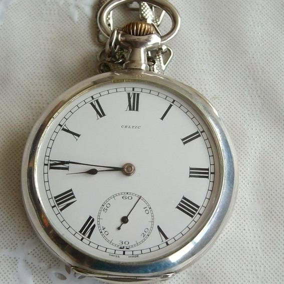 Relógio Bolso Cetic Prata - Grands Prix,