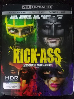 Kick Ass 4k Slipcover + Blu-ray + Digital Hd Nuevo Y Sellado