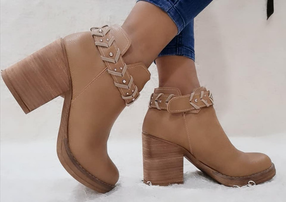 Zapatos Mujer Texanas Dama Botas Con Plataforma Botinetas
