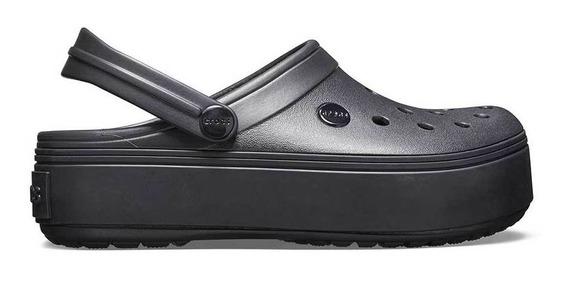 Crocs Originales Crocband Platform Negro Mujer