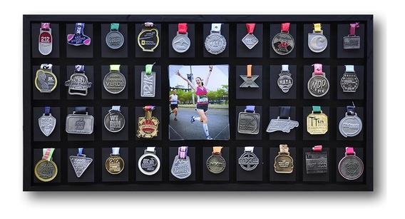 Medallero Running Grande 36 Medallas Maratón Varios Deportes