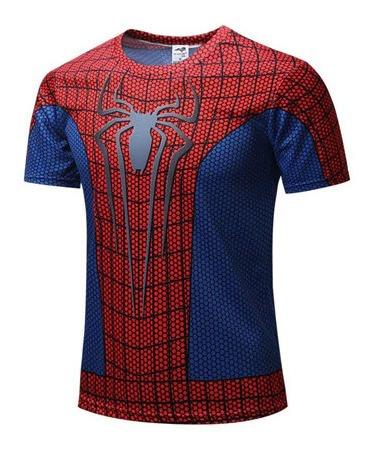 Spiderman Playera Deportiva El Hombre Araña Para Gym Fitness