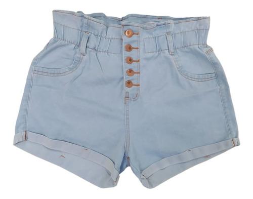 Imagem 1 de 1 de Short Plus Size Jeans Feminino Cintura Alta Lycra E Elastico