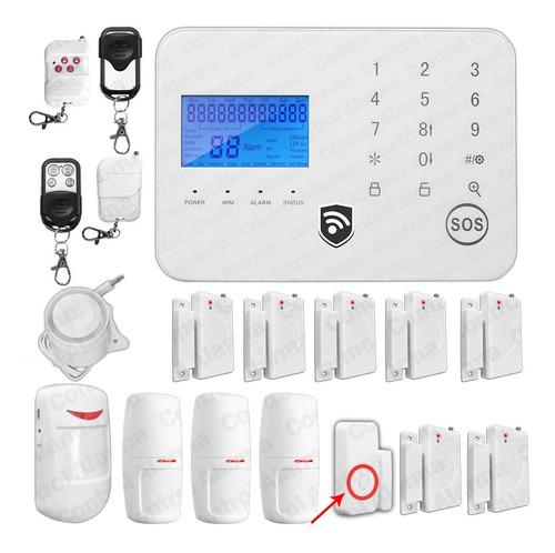 Imagen 1 de 8 de Alarma Gsm Tecnologia 12s Seguridad Inalambrica Casa Oficina