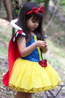Disfraz Blanca Nieve Bebé-niña Alta Costura, 100% Artesanal