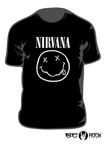 Remera Estampada Nirvana Vinilo Importado