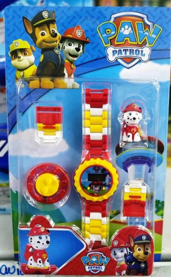 Relógio Infantil Pulseira Personagem Patrulha Canina Lego