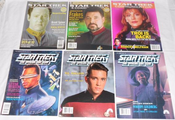 Star Trek Communicator Lote Nova Geração Revistas Importadas