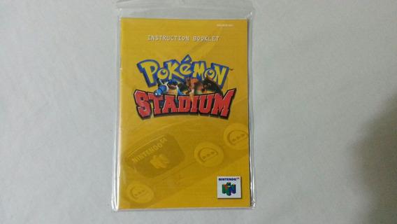Manual De Instruções Original Pokemon Stadium Para N64