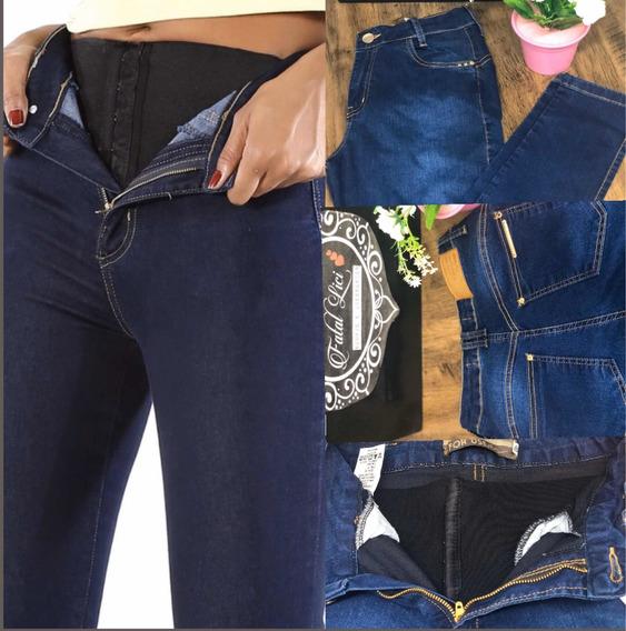 Calça Jeans Feminina Cintura Alta+lipo Cinta Modela For Use
