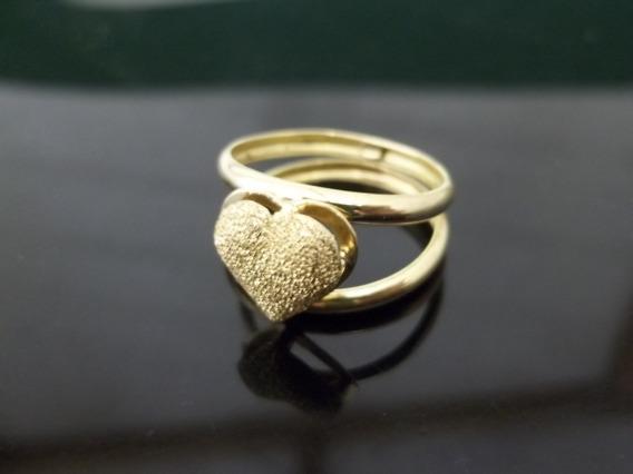 Anel Em Ouro Coração