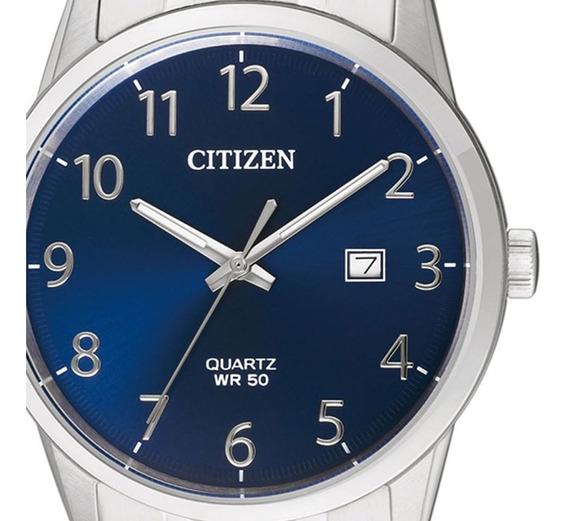 Reloj Hombre Citizen Bi5000-52l Cuarzo Dial Azul Regalo Papá
