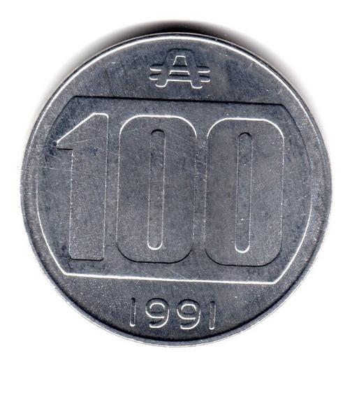 Moneda Argentina 100 Australes 1991 Sin Circular Cj#377 Rara