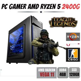 Pc Gamer Amd Ryzen 5 2400g 3.6ghz Ddr4 Ssd 120gb - Bg015