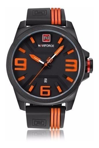 Relógio Masculino Naviforce Esportivo Aço Quartzo Com Data