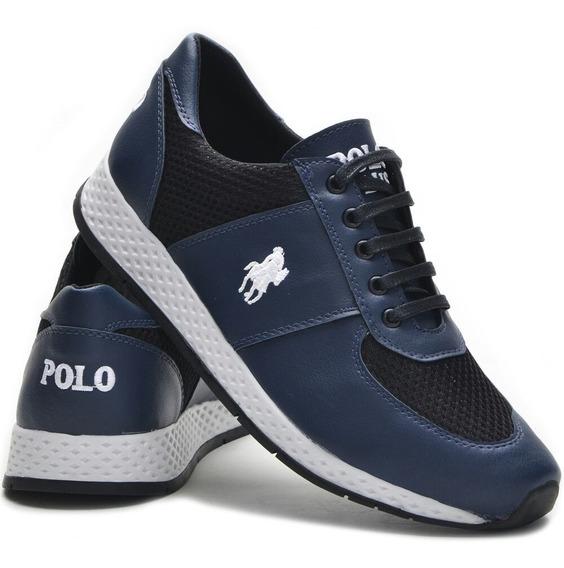 2 Pares Tênis Masculino Polo Plus Jogging Original