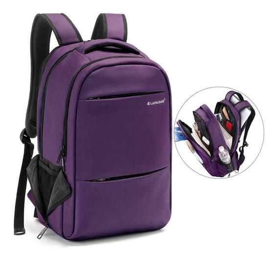 Mochila Estudiante Universidad Lapacker Lapto Viaje Purpura