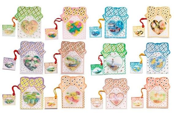 Minicards X 60 Tarjetitas Para Regalo Tarjetas Con Sobre