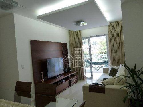 Apartamento Com 2 Dormitórios À Venda, 80 M² Por R$ 499.000,00 - São Francisco - Niterói/rj - Ap0890